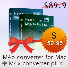 noteburner itunes drm bundle, m4v converter plus, m4p converter for mac