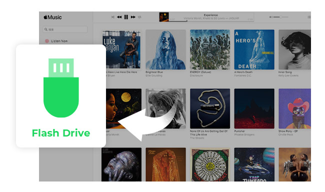 how to transfer apple music songs to usb flash drive noteburner. Black Bedroom Furniture Sets. Home Design Ideas