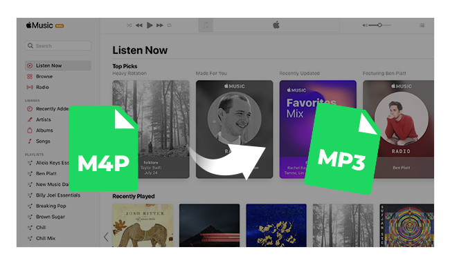 itunes m4p to mp3
