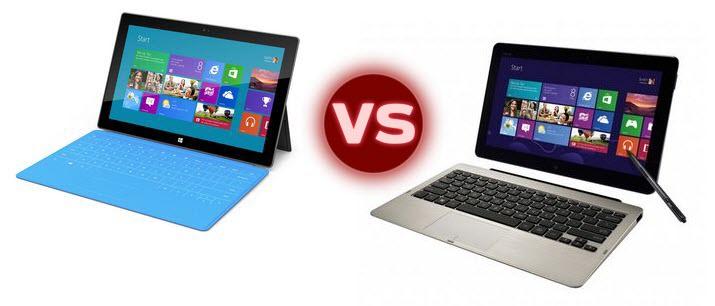 Windows RT Tablets Competition: Microsoft Surface vs ASUS Vivo Tab