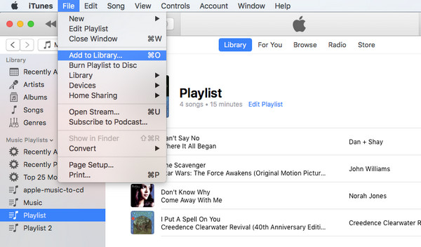 add spotify playlist to apple music