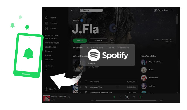 How to Use Spotify Song as Phone Ringtone | NoteBurner